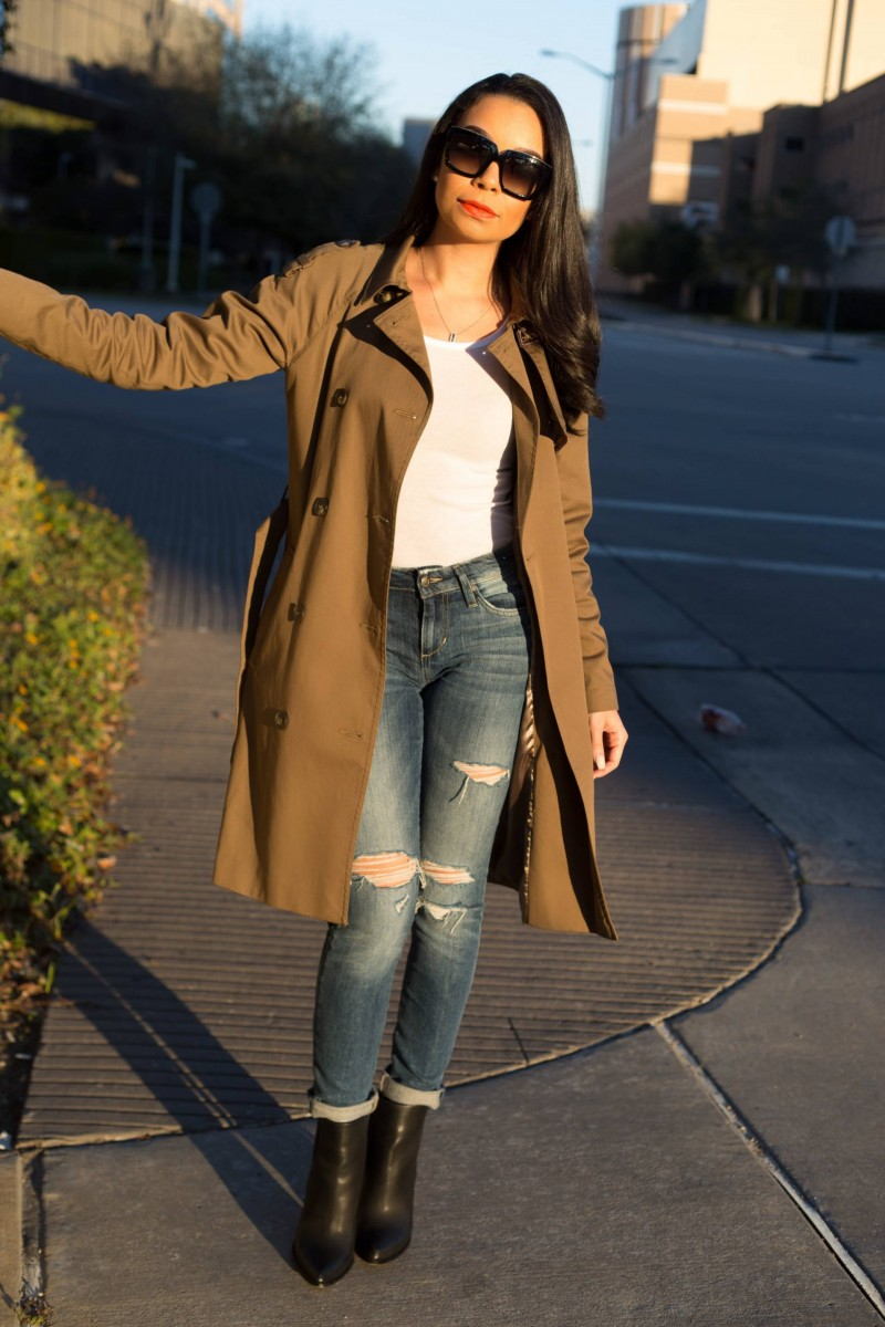 Topshop Olive Green Trench Coat Fall Fashion