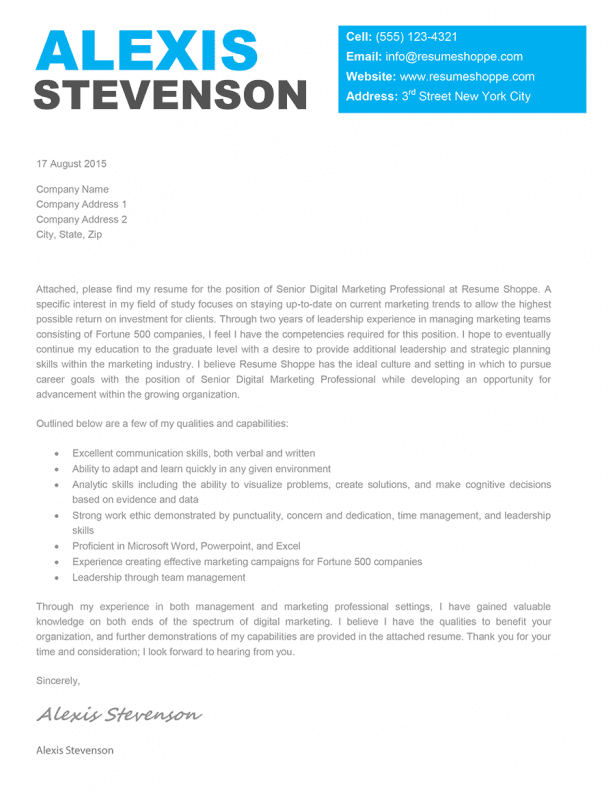 Creative Cover Letter Template For Applying For Jobs ...  Cover Letter To A Company