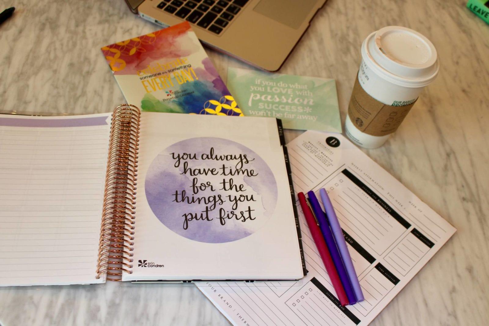 Getting Organized with Erin Condren | The B Werd