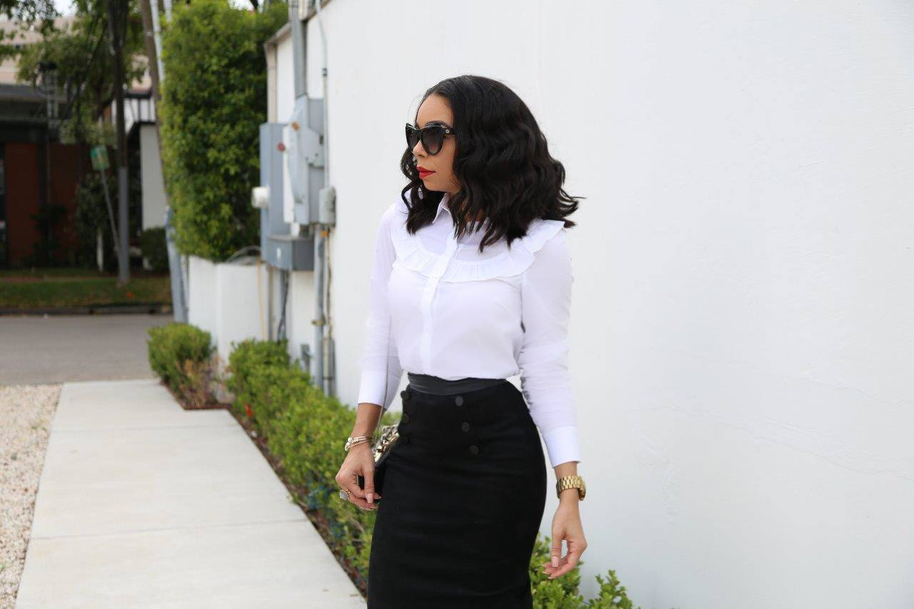 Suede Pencil Skirt | Style Guide | The B Werd
