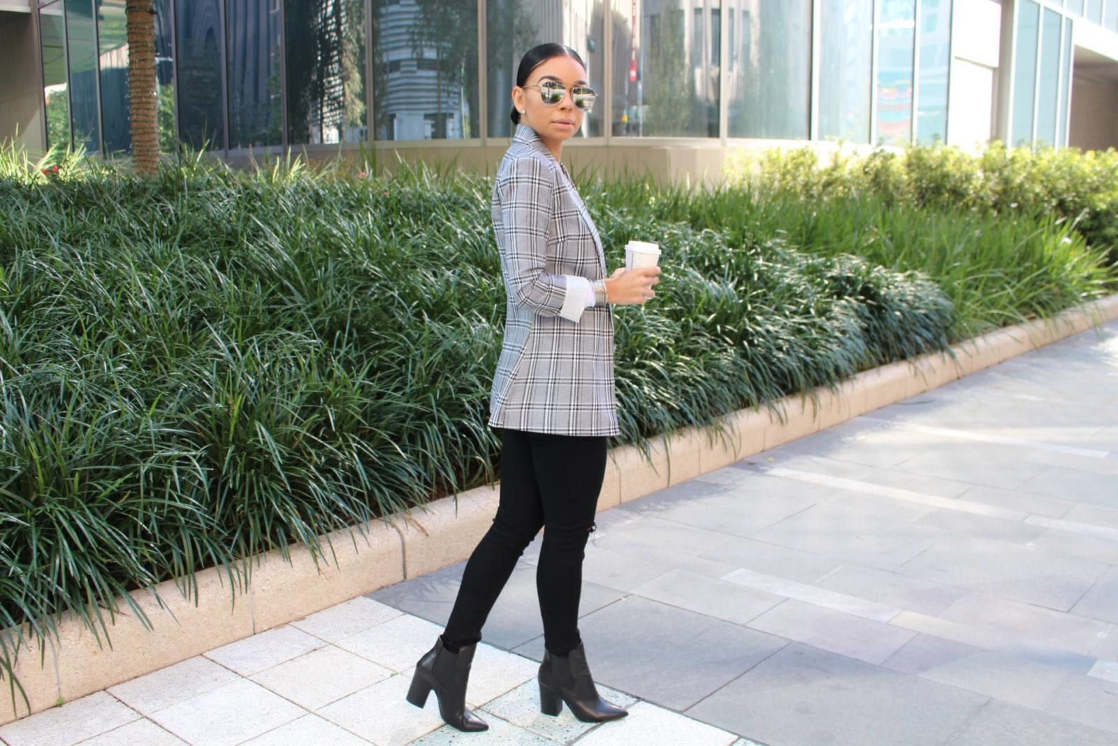 Gray Plaid Blazer | Style Guide